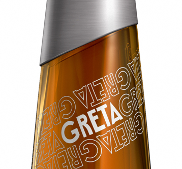 3D Visualisation – Greta Whisky Bottle