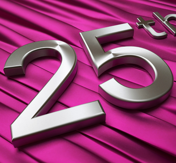 3D Illustration – Typographic 25th Anniversay
