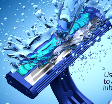 3D Illustration – Gillette Razor Poster